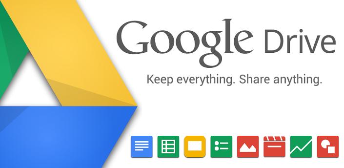 Google Driveと連携したデータの管理