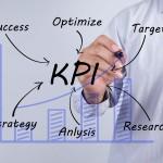 Businessman hand drawing KPI,concept
